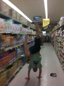 Handstand in the Cereal Aisle - Coray R.