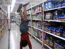 Handstand in the Cereal Aisle - Matt K.