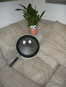Saucepan with Googly Eyes - Laura P.