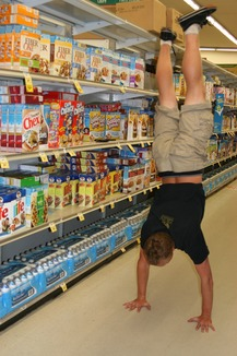 Handstand in the Cereal Aisle - Dylan L.